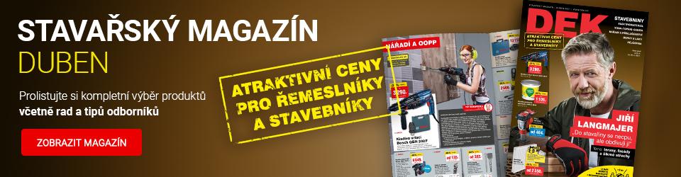 Dubnový stavařský magazín