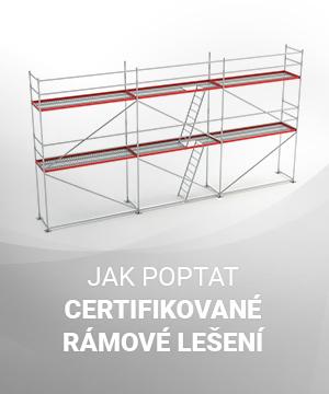 Jak poptat certifikované rámové lešení ve Stavebninách DEK
