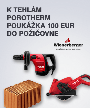 K tehlám POROTHERM poukážka 100,- EUR do požičovne náradia