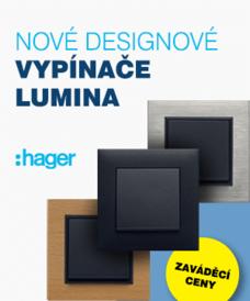 Nové vypínače Hager lumina