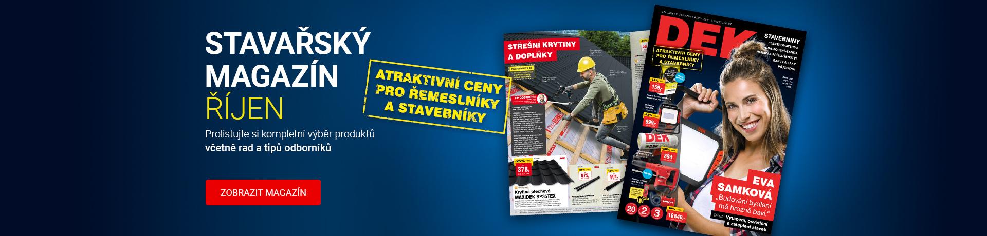 Říjnový stavařský magazín