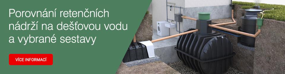 Retenční nádrže na dešťovou vodu