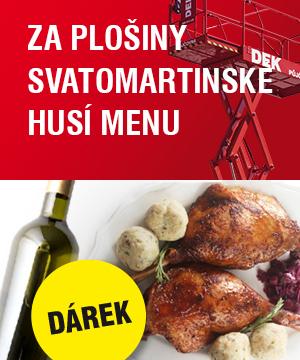 Za plošiny svatomartinské husí menu